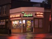 English: The Bunghole liquor store in Salem, Massachusetts