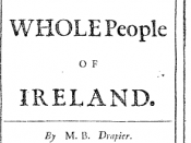 Title page from Jonathan Swift's To the Whole People of Ireland