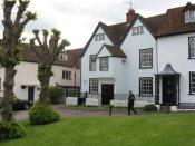English: Cottages, The Green, Marlborough William Golding , author of 'Lord of the Flies' and a master at Marlborough College lived at No 29.