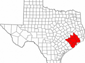 English: Houston-Sugar Land-Baytown Metropolitan Statistical Area with 10 counties as of 2003 per the U.S. Census.