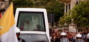 English: His Holiness pope Benedict XVI passing through Balzan a small village in Malta
