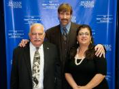 English: NAC Co-founder/Executive Director, Judge Jack Mandel, Co-Founder Dr Henry T. Nicholas, and Assistant Director Corina Espinoza, 2010 Thanksgiving Celebration at the Nicholas Academic Centers.