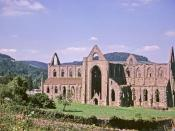 English: Tintern Abbey, Monmouthshire taken 1963 Tintern Abbey (Welsh: Abaty Tyndyrn) was founded by Walter de Clare, Lord of Chepstow, on May 9, 1131. Situated on the River Wye in Monmouthshire, it was only the second Cistercian foundation in Britain, an
