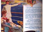 English: 1916 advertisement for the United Fruit Company Steamship Line
