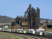 English: A view of the former Bethlehem Steel from the Fahy Bridge in Bethlehem, Pennsylvania. This photo was taken shortly before demolition began to make way for the Sands BethWorks casino project. Jschnalzer 23:29, 31 July 2007 (UTC)