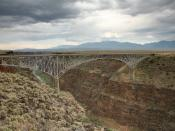 U.S. Route 64 Rio Grande Gorge Bridge near Taos, New Mexico.