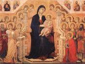 Maestà by Duccio (1308-11) Tempera on wood, 214 x 412 cm Museo dell'Opera del Duomo, Siena