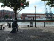 English: John Cabot. John Cabot's statue in Bristol Docks - he's looking west towards America.