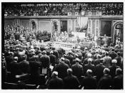 Congress standing to receive Wilson  (LOC)