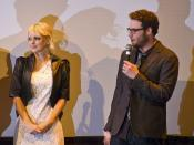 Anna Faris and Seth Rogen fielding questions at the Observe and Report world premiere.