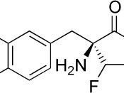 chemical structure of Alpha-difluoromethyl-DOPA