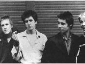 The original line-up of the Sex Pistols, early 1976. Left to right: Johnny Rotten, Steve Jones, Glen Matlock and Paul Cook.