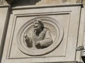 Sculpture of Benvenuto Cellini on 79 - 83 Colmore Row - RBS - Royal Bank of Scotland
