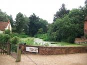 Flatford Mill, photographed in 2010. This is the site where John Constable painted his famous work The Hay Wain.