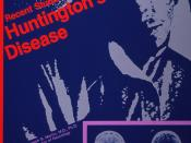 Poster of Recent studies of Huntington's disease Marjorie Guthrie lecture in genetics; 1985