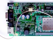 RouterBoard 112 with U.FL-RSMA pigtail and R52 miniPCI Wi-Fi card