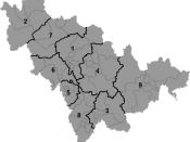 English: Map of prefectures of Jilin Province
