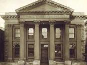 The National Bank, Oamaru, built 1871: a prostyle Palladian portico on a neoclassical facade