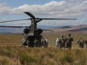 Boarding a CH-47 Chinook helicopter