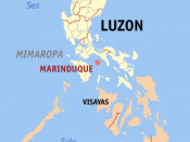 Map of the Philippines with Marinduque highlighted
