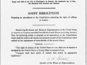 19th amendment of the US constitution