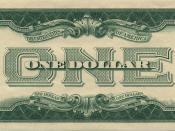 Back side of a 1928 U.S. one-dollar bill.