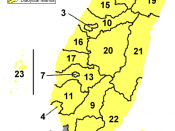 English: Map of prefectures of Taiwan Province, People's Republic of China
