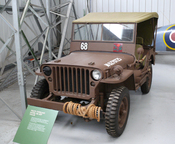 English: Willys-Overland Jeep Model MB, in the National Museum of Flight in East Fortune, East Lothian, Scotland. Nederlands: Willys-Overland Jeep Model MB, in het National Museum of Flight in East Fortune, East Lothian, Schotland.