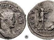 Antoninianus issued to celebrate LEG VII MAC VI P VI F ,