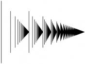 """A graphical """"matchstick"""" representation of the ordinal ω² Italiano: Rappresentazione visiva dell'ordinale ω 2 : i primi segmenti rappresentano i numeri naturali, il primo triangolo rappresenta ω, nell'immagine ci sono (idealm"""