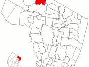 Map of Bergen County highlighting Upper Saddle River