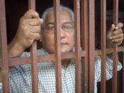 El prisionero en esta fotografía apodado Maestro, estuvo de acuerdo con la publicación de esta fotografía bajo la licencia expuesta debajo de este mensaje. Prisión del Condado de Mantras, Colombia