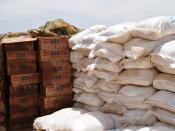 Aid from USAID and the UN's World Food Programme (WFP)in Ain Siro.