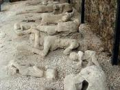 "The casts of the corpses of a group of human victim of the 79 AD eruption of the Vesuvius, found in the so-called ""Garden of the fugitives"" in Pompeii. Photo taken by Lancevortex, 30 Jan, 2000."