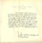 Facsimile of French manuscript letter written by John Calvin to king Edward VI of England, July 4, 1552. From the British Museum. Foldout is 8 3/4 x 8 7/8 in.