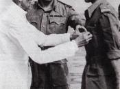 Muhammad Ali Jinnah with GOC East Pakistan Ayub Khan in 1948.
