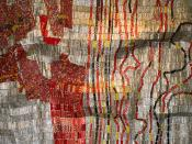 Sculpture (Detail) by El Anatsui / Jack Shainman Gallery / The Armory Show 2010 / SML.20100305.7D.03932