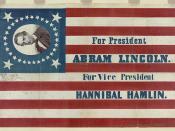 For president, Abram Lincoln. For vice president, Hannibal Hamlin (LOC)