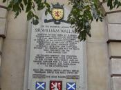 Wallace Memorial @ St Batholomew's Hospital, London, UK very near to where William Wallace was executed in Spitalfields