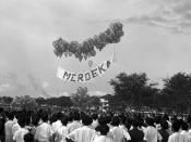 A People's Action Party Merdeka rally at Farrer Park on 17 August 1955.
