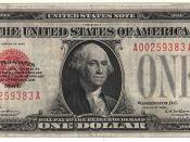 A gold-standard 1928 one-dollar bill. It is identified as a