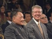 Deng Xiaoping and Jimmy Carter during Sino-American signing ceremony.