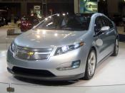 English: 2011 Chevrolet Volt exhibited at the 2010 Washington Auto Show. The Chevy Volt is a plug-in hybrid (PHEV).
