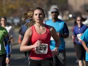 Anthem Richmond Marathon, Girl in Red