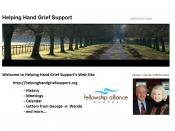 English: Helping Hand Grief Support Web Site