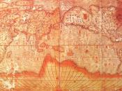 Chinese world map, drawn by the Jesuits (early 17th century). Reproduction in