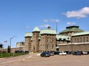 English: Dorchester Penitentiary in New Brunswick Canada. Opened in 1880 as a maximum security prison, it now functions as a medium security facility.
