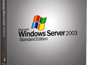 Windows Server 2003 Standard Edition cover box