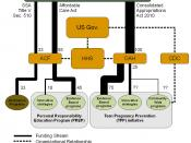 English: Flowchart displaying federal funding for sex education programs in the United States for Fiscal Year 2011.