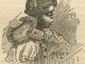 Black girl from Uncle Remus, His Songs and His Sayings: The Folk-Lore of the Old Plantation, by Joel Chandler Harris, p. 223. Illustrations by Frederick S. Church and James H. Moser. New York: D. Appleton and Company, 1881.